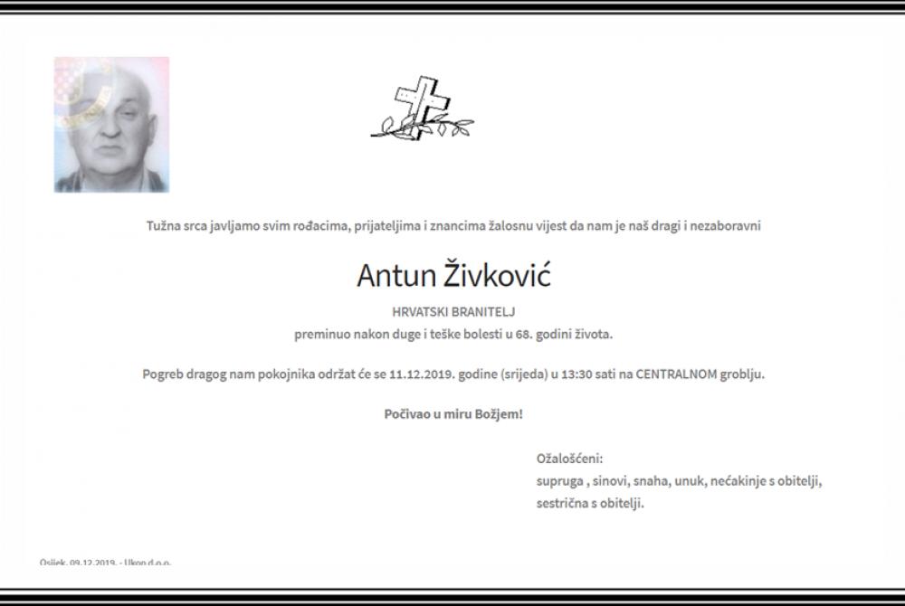 Posljednji pozdrav ratniku - Antun Živković