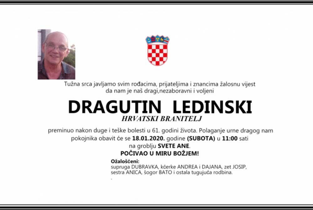 Posljednji pozdrav ratniku - Dragutin Ledinski