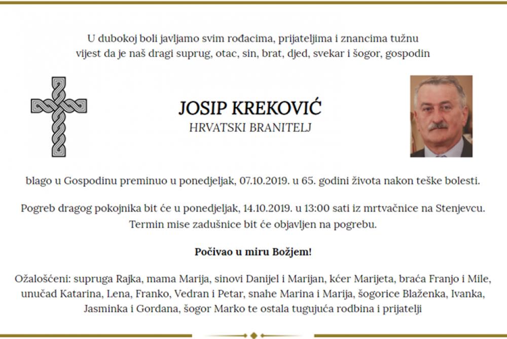 Posljednji pozdrav ratniku - Josip Kreković