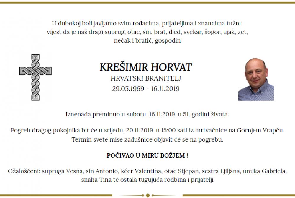Posljednji pozdrav ratniku - Krešimir Horvat