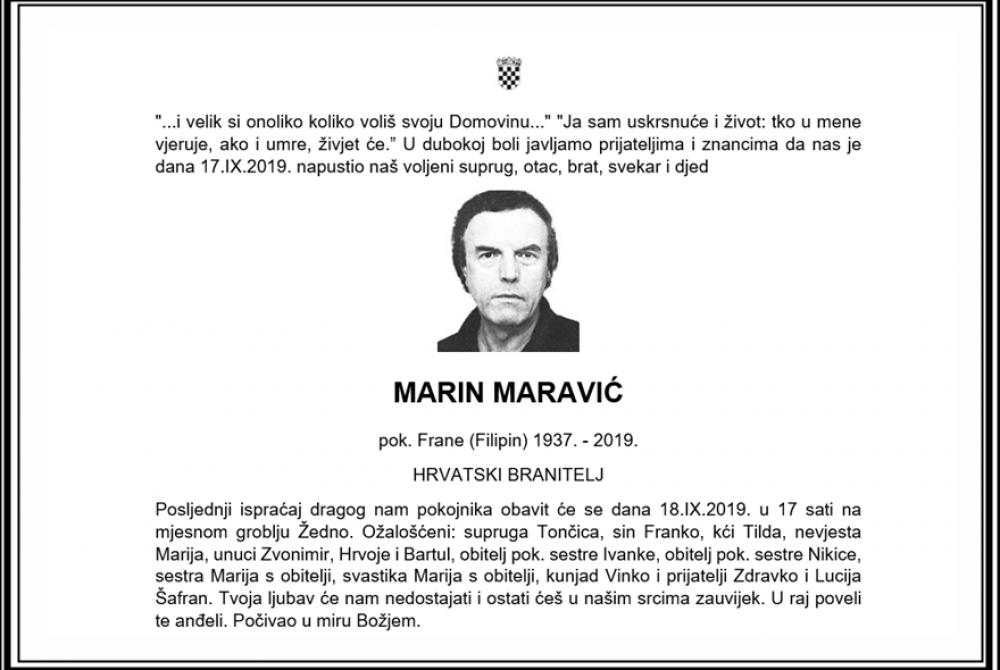 Posljednji pozdrav ratniku - Marin Maravić