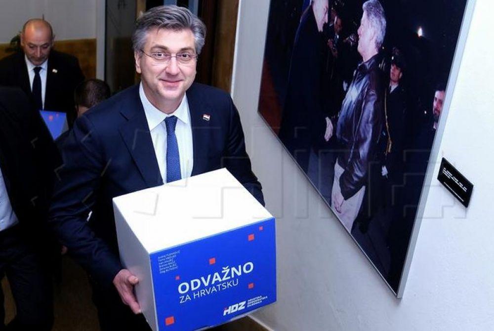 Plenković predao potpise za izbore u HDZ-u