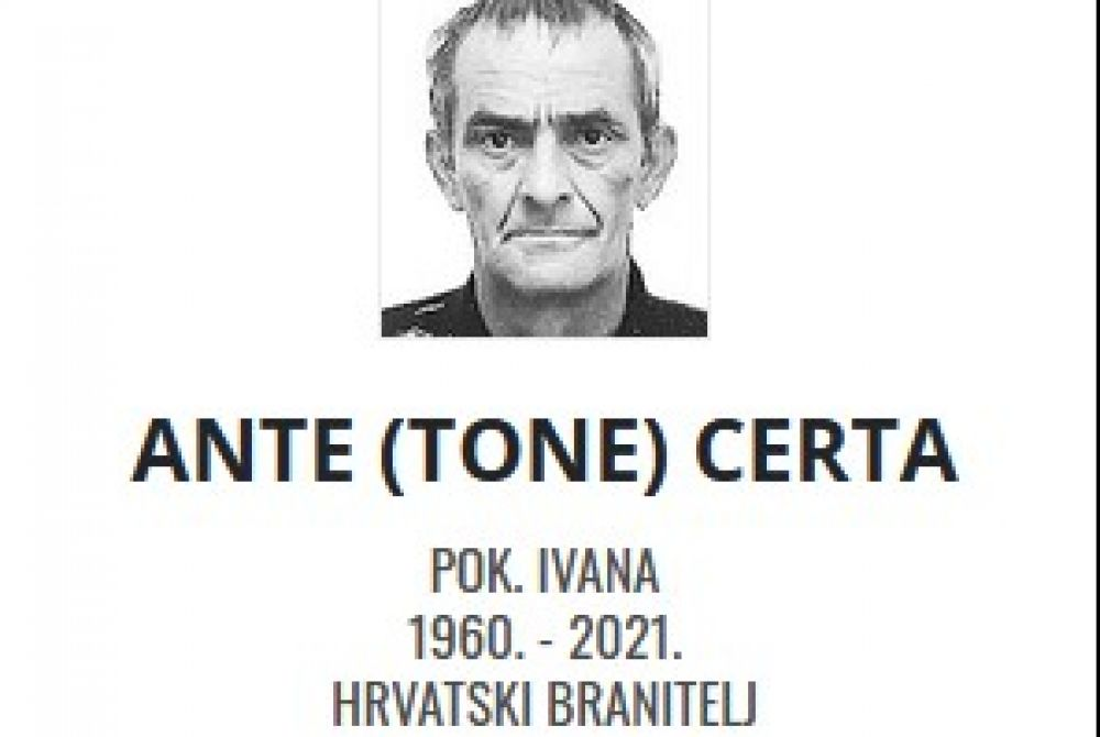 Ante Certa - Hrvatski branitelj 1960. - 2021.