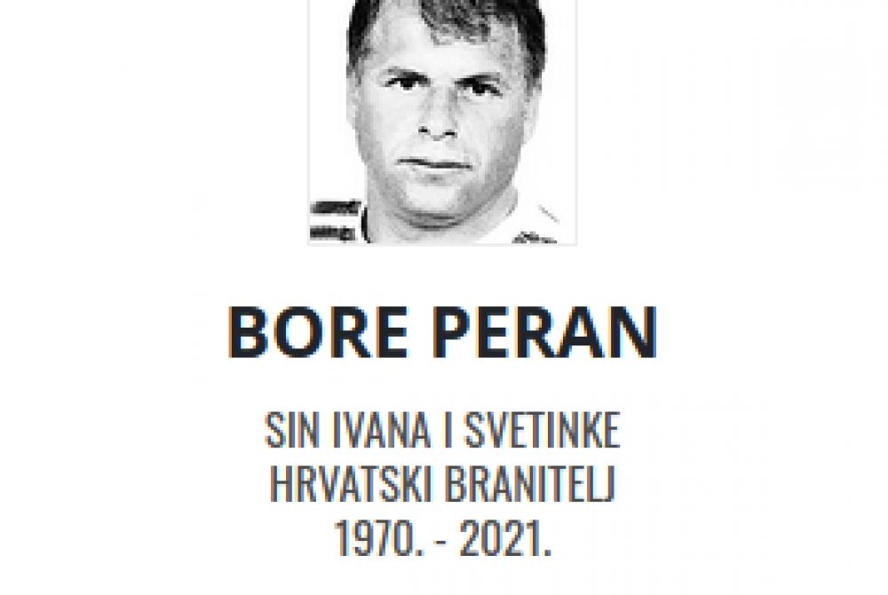 Bore Peran - Hrvatski branitelj 1970. - 2021.