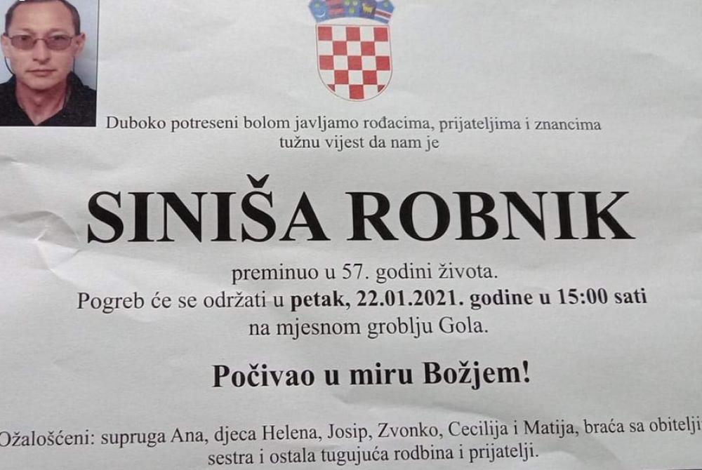 Siniša Robnik - Hrvatski branitelj 1964. - 2021.