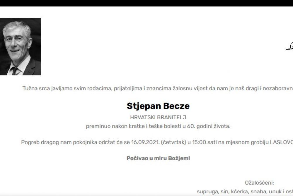 Stjepan Becze - Hrvatski branitelj 1961. - 2021.