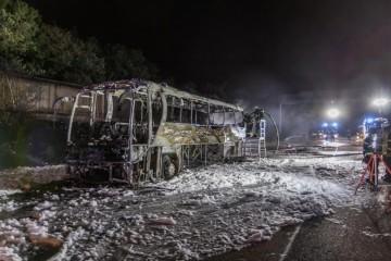 STRAVA NA AUTOCESTI U NJEMAČKOJ! Zapalio se autobus iz Hrvatske