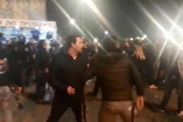 TUČNJAVA BBB-a PO DOLASKU NA STADION: Nekoliko osoba ostalo ležati na podu, policija spriječila veći sukob
