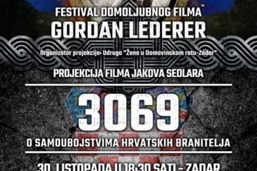 """Projekcija filma Jakova Sedlara """"3069"""" u Zadru"""