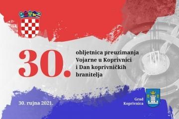 U četvrtak svečano obilježavanje 30. obljetnice preuzimanja Vojarne u Koprivnici i Dana koprivničkih branitelja