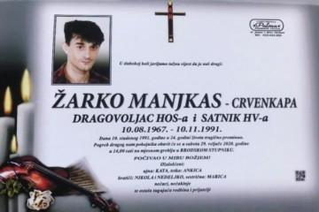 Posljednji pozdrav ratniku - Žarko Manjkas Crvenkapa