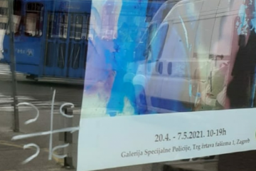 ČETNIČKI GRAFIT NA VRATIMA SPECIJALNE POLICIJE! Tko je usred Zagreba ispisao '4s'?