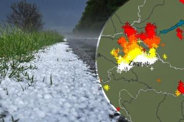 Sjever Hrvatske pogodilo jako nevrijeme, padala tuča. U Varaždinu 2000 munja