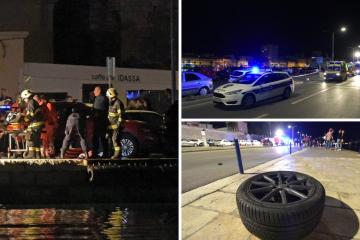 Četiri mladića sletjela s autom u more u Zadru, dvoje poginulo