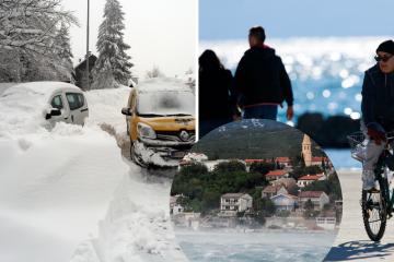 Već danas moguć slab snijeg, a u subotu stiže velika promjena