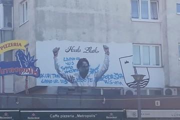 FOTO Incident u Livnu! Navijači išarali mural Zlatka Dalića i ostavili mu uvredljive poruke