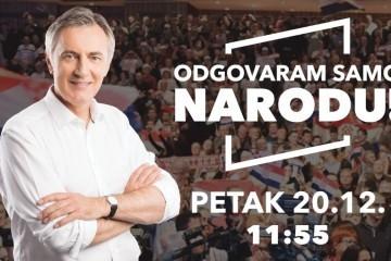 Škoro u petak u 11,55 odgovara na pitanja naroda