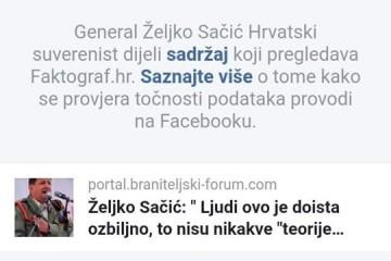 """Željko Sačić: Faktograf,. ..srami te se...lažete o meni,neobjektivno me """"ocjenjuje"""" te osobno i politički diskreditirate"""