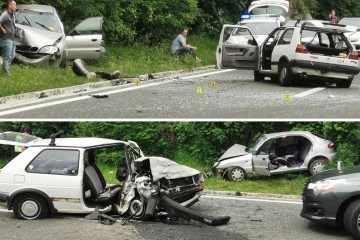 Vozač imao napadaj? Prešao u krivi smjer, poginuo je putnik