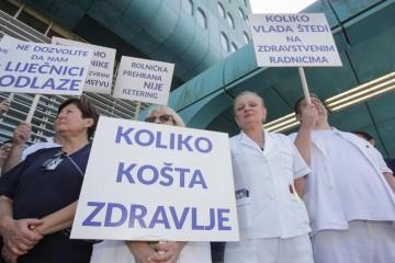 Žele veće plaće: Medicinske sestre prosvjeduju u Zagrebu