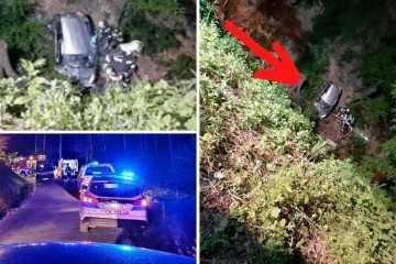 Zagrebački par sletio autom u 30 metara duboku provaliju