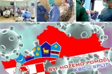 """Apelom dalmatinskih udruga """"Zajedno smo jači od Korone"""" prikupljeno 7 milijuna i 700 tisuća kuna pomoći KBC-u Split"""