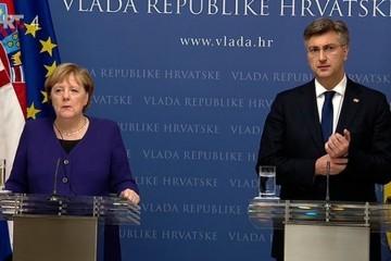 Angela Merkel branila hrvatske napore u zaštiti vanjskih granica EU-a