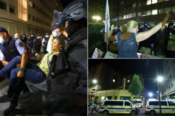 Antivakseri upali u zgradu RTV Slovenije, prijetili novinarima