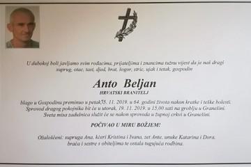 Posljednji pozdrav ratniku - Anto Beljan