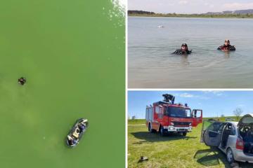 Auto kliznuo u jezero i potonuo: Vozač zaboravio dignuti ručnu?