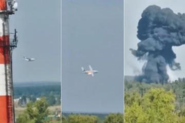 (VIDEO) KAMERA UHVATILA NESVAKIDAŠNJI TRENUTAK! Pao ruski vojni transportni avion, prve informacije nisu optimistične!