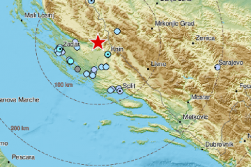 Snažan potres zatresao sve od Knina do Zadra: 'Probudio me'