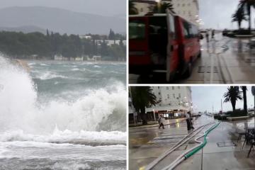 Poplava u Splitu: Dioklecijanovi podrumi su potpuno poplavljeni