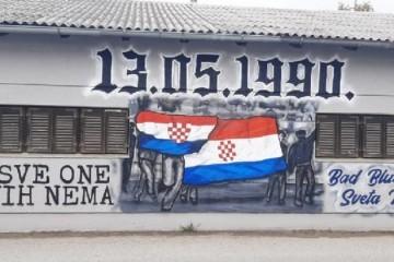"""Bad Blue Boysi naslikali novi domoljubni mural u Svetoj Klari: """"Za sve onih kojih nema"""""""