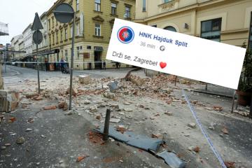 Rivalstvo je nebitno, Hajduk poručio: 'Drži se, Zagrebe...'