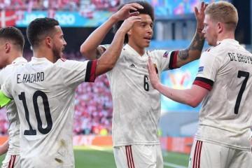 """DANSKA - BELGIJA  """"Crveni vragovi"""" su se oporavili od ranog šoka i s dva pogotka u drugom poluvremenu došli do tri boda"""