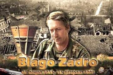 BLAGO ZADRO, General bojnik Zapovjednik 3. Bojne 204. Vukovarske brigade (MZ A. Stepinac, MZ N.Š. Zrinski i MZ Kralj Tomislav) 31.03.1944. - 16.10.1991.