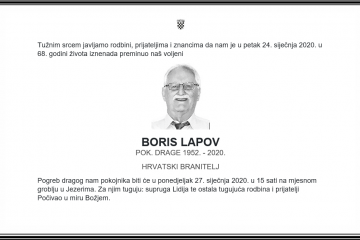 Posljednji pozdrav ratniku - Boris Lapov
