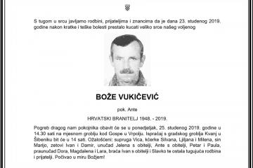 Posljednji pozdrav ratniku - Bože Vukičević