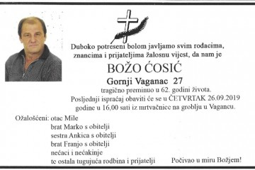 Posljednji pozdrav ratniku - Božo Ćosić
