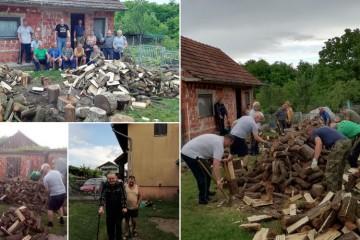 ZAJEDNO U RATU, ZAJEDNO U MIRU: Branitelji iz Šenkovca iscijepali drva svom slijepom članu