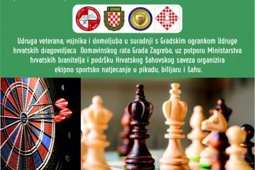 Poziv za sudjelovanje na 1. Braniteljski troboj - ekipni turnir u Sesvetama