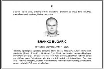 Posljednji pozdrav ratniku - Branko Bugarić