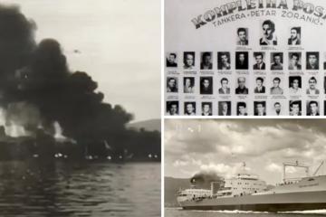 U BOSPORU SINOĆ IZBJEGNUTA TRAGEDIJA Zadarski tanker se spasio, no u Bosporu je 1960. 'Petar Zoranić' potonuo. Poginuo je 21 mornar