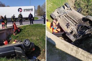 Tragedija u Osijeku: Vozač (46) izletio s ceste u kanal i poginuo