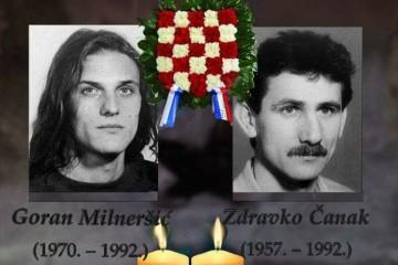 Na današnji dan 1992. godine na gospićkom su bojištu poginula dvojica pripadnika HOS-a Zdravko Čanak i Goran Milneršić.