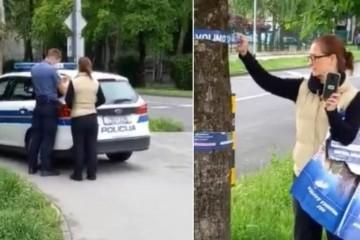 """SKANDAL NA SAVICI: NOSITELJICA LISTE """"MOŽEMO"""" TRGALA PLAKATE, IZAŠLA POLICIJA"""