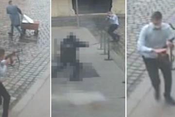 Pogledajte cijelu snimku napada na Markovom trgu, slučajni prolaznik imao je ludu sreću!