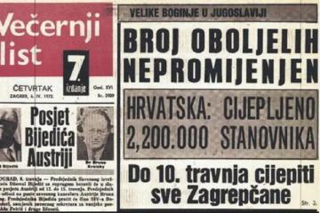 Osvanula još jedna naslovnica Večernjeg iz '72-e: Cjepivo je tad proizvodio Imunološki zavod