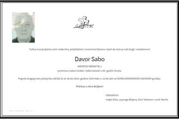 Posljednji pozdrav ratniku - Davor Sabo